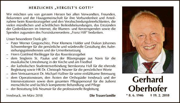 Gerhard Oberhofer
