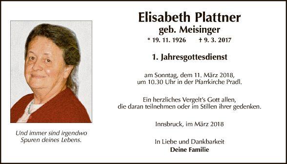 Elisabeth Plattner