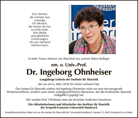 Ingeborg Ohnheiser