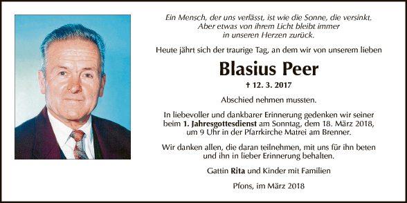 Blasius Peer