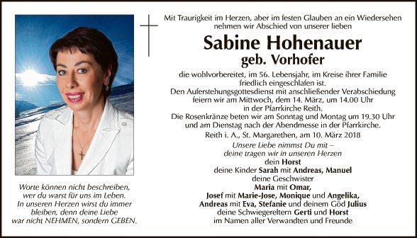 Sabine Hohenauer