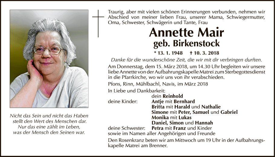 Annette Mair
