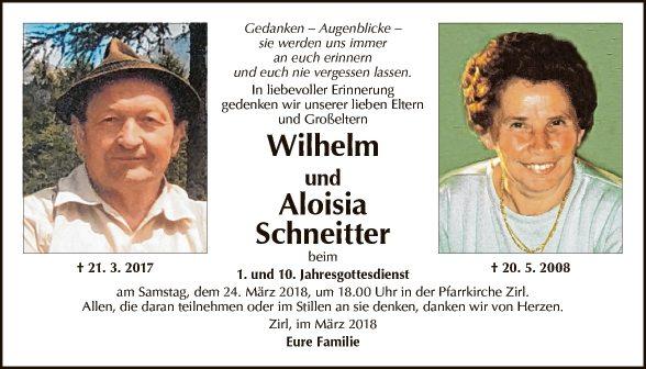 Wilhelm und Aloisia Schneitter