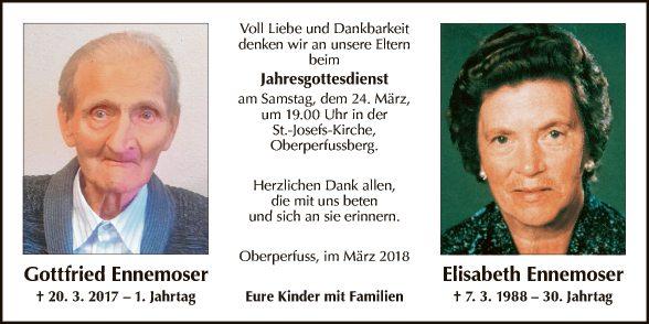 Gottfried und Elisabeth Ennemoser