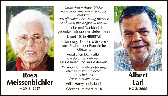 Rosa Meissenbichler + Albert Larl