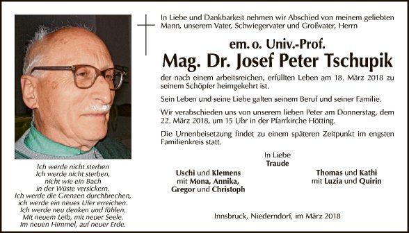 Mag. Dr. Josef Peter Tschupik