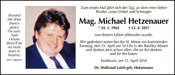 Mag. Micheal Hetzenauer