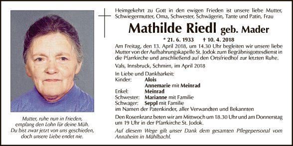 Mathilde Riedl