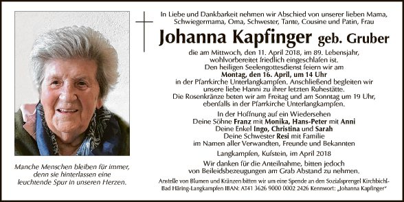Johanna Kapfinger