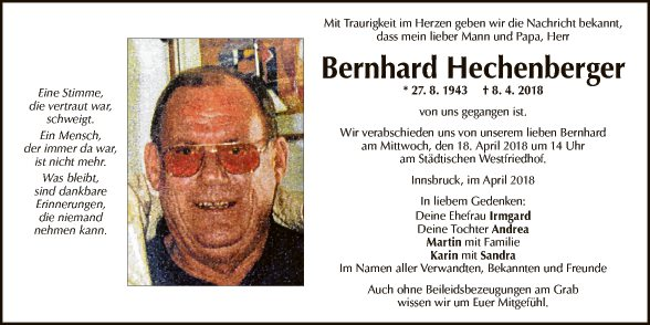 Bernhard Hechenberger