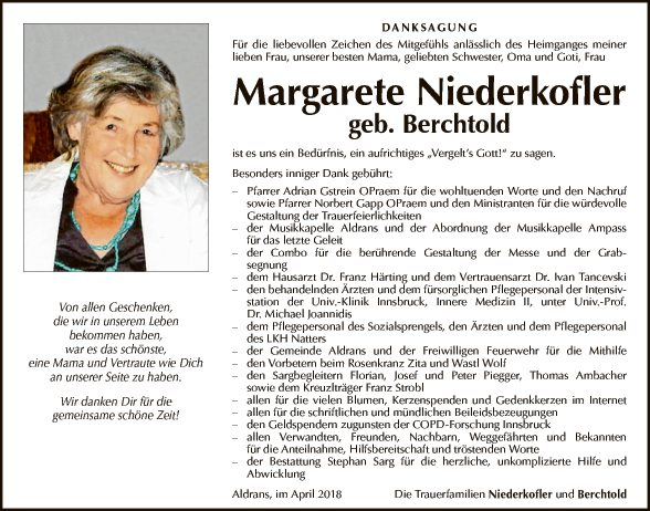 Margarete Niederkofler