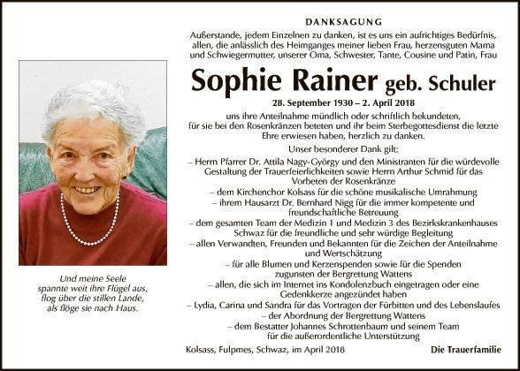 Sophie Rainer