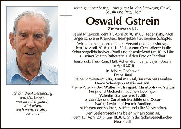 Oswald Gstrein