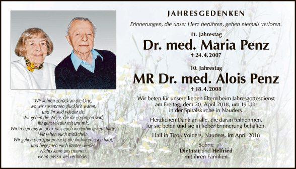 Dr. med. Maria und Alois Penz