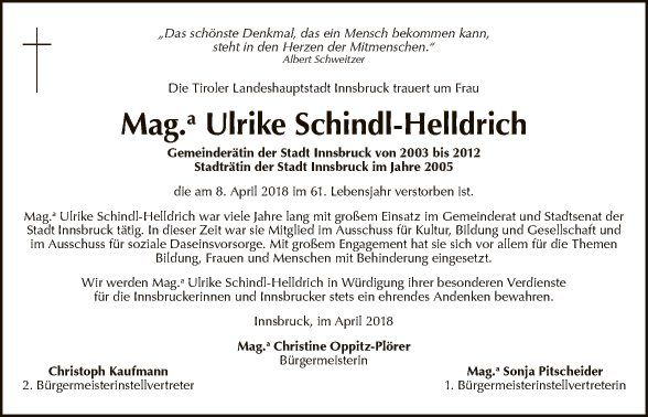 Frau Mag. Ulrike Schindl-Helldrich