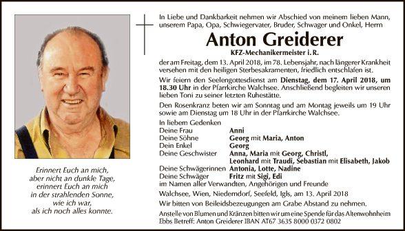 Anton Greiderer