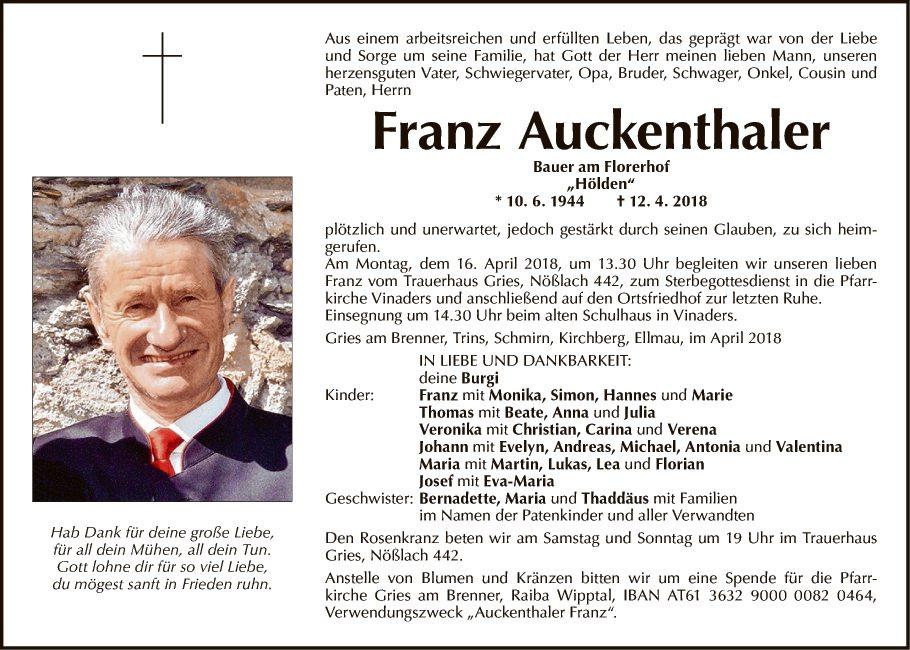 Franz Auckenthaler