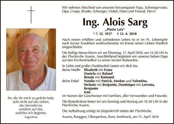 Ing. Alois Sarg