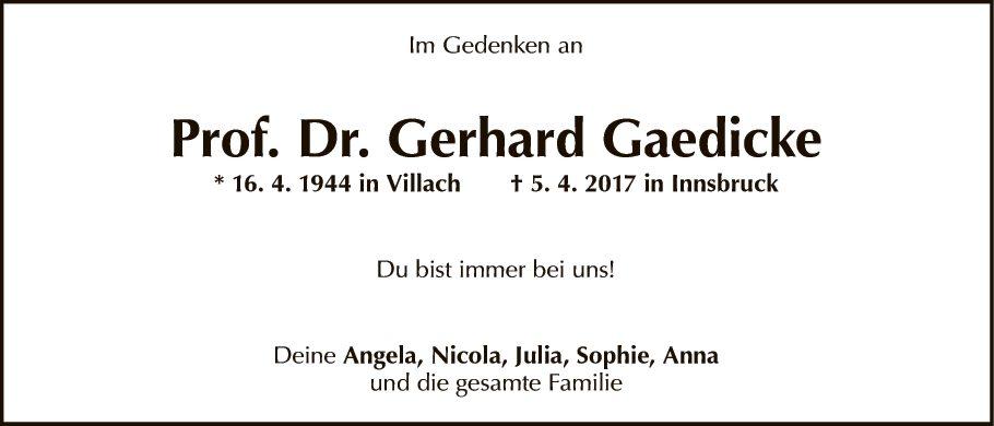 Gerhard Gaedicke