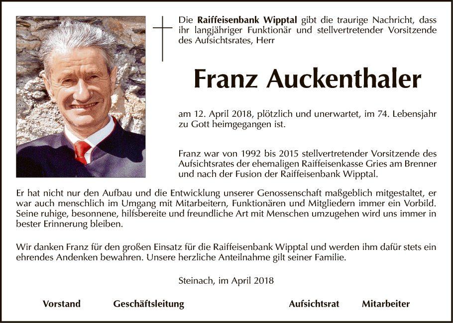 Franz Auckenthaler (Raiba)