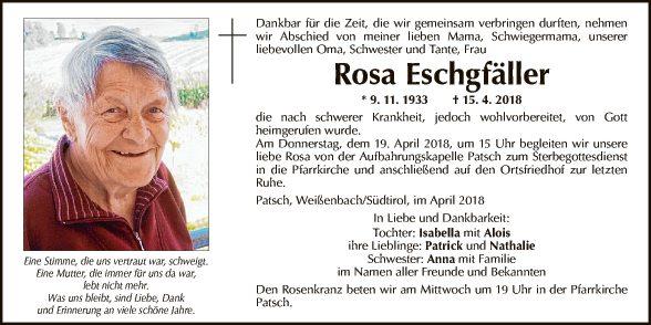 Rosa Eschgfäller