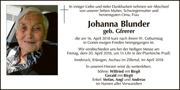Johanna Blunder