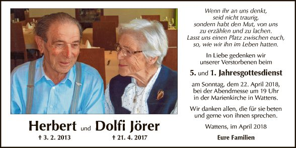 Herbert und Dolfi Jörer