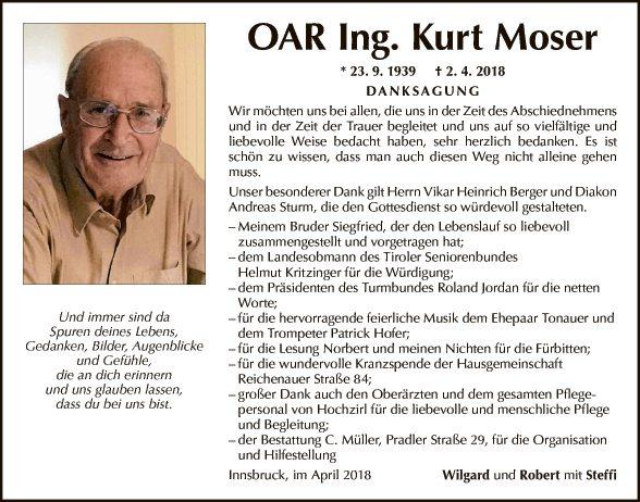 OAR Ing. Kurt Moser