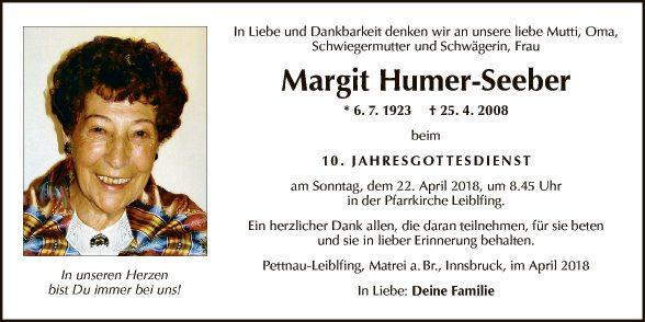 Margit Humer-Seeber