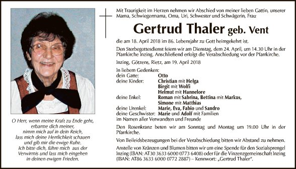 Gertrud Thaler