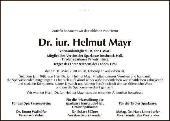 Dr. iur. Helmut Mayr