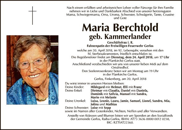 Maria Berchtold