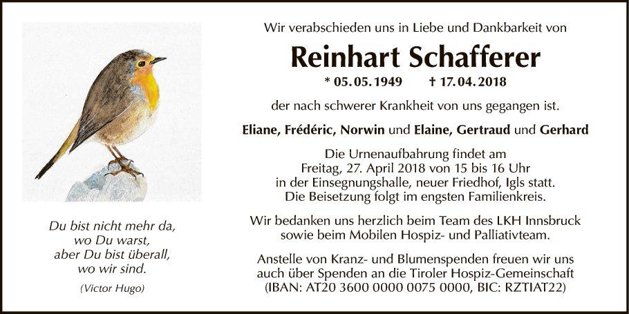 Reinhart Schafferer