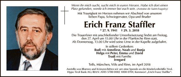 Erich Franz Staffler