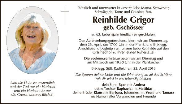 Reinhilde Grigor