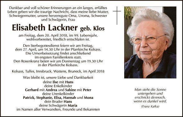 Elisabeth Lackner