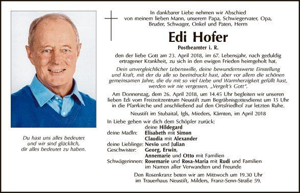Edi Hofer