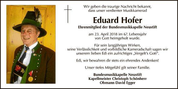 Eduard Hofer