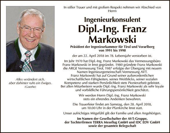 Dipl. Ing. Franz Markowski