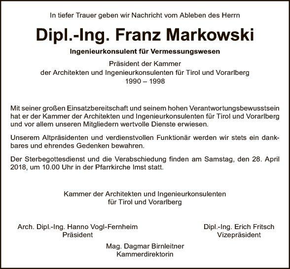 Dipl.-Ing. Franz Markowski