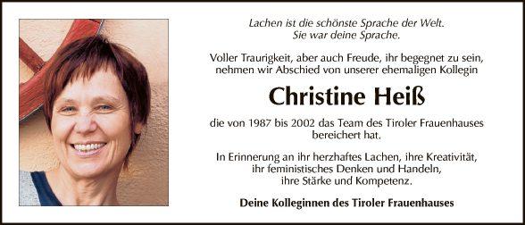 Christine Heiß
