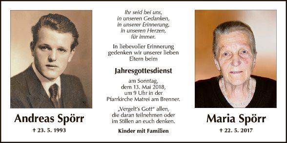 Andreas und Maria Spörr