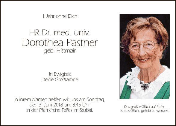 Dr. med univ. Dorothea Pastner