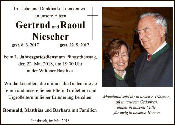 Gertrud und Raoul Niescher