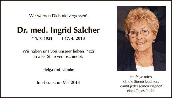 Dr. Ingrid Salcher