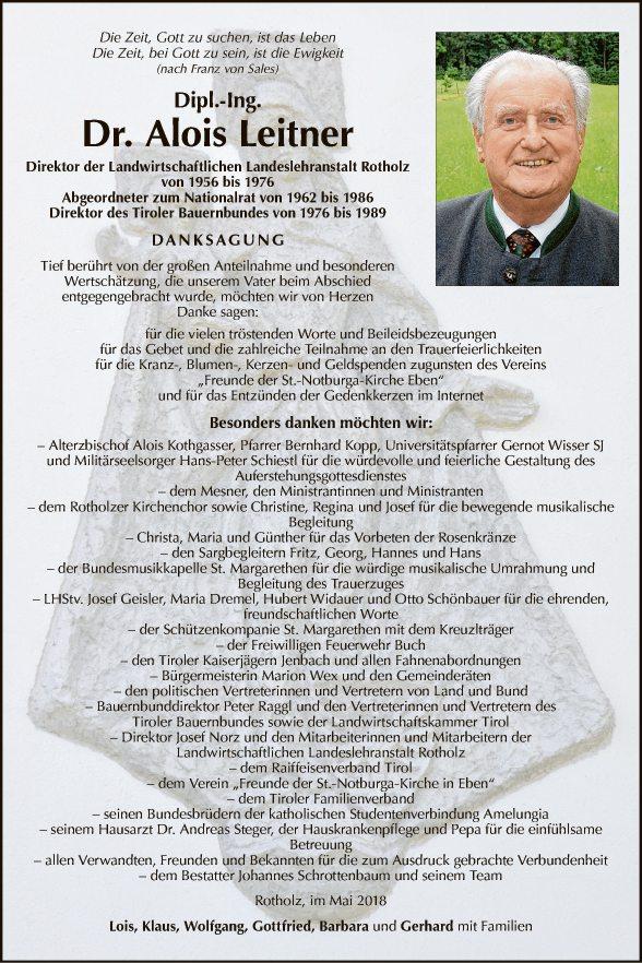 Dipl. Ing. Dr. Alois Leitner