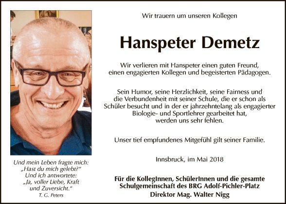 Hanspeter Demetz
