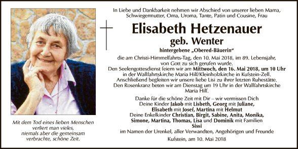 Elisabeth Hetzenauer