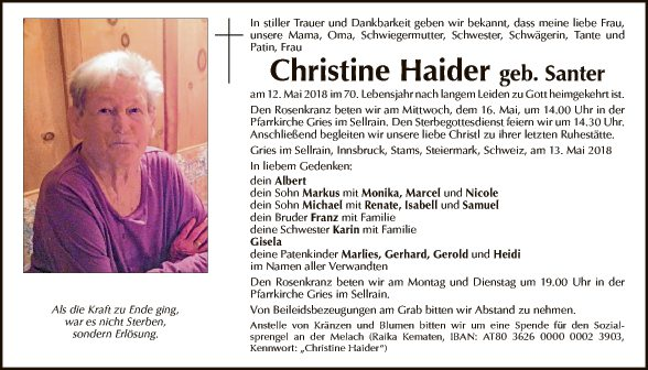 Christine Haider