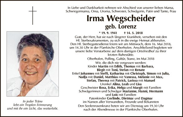 Irma Wegscheider